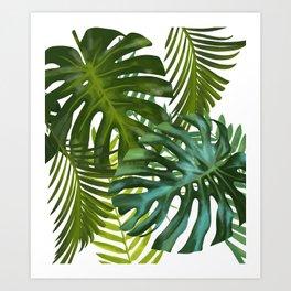 Palm and Monstra Art Print