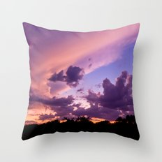 candy skys. Throw Pillow