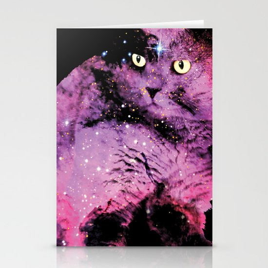Celestial Cat - The British Shorthair & The Pelican Nebula Stationery Cards