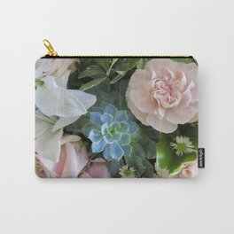 Cactus Surrounded by Beautiful Flowers Carry-All Pouch