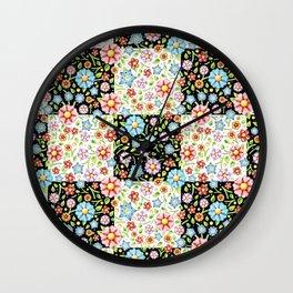 Millefiori Floral Patchwork Wall Clock