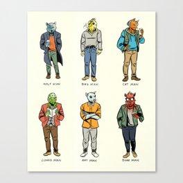 Animal Dudes Canvas Print