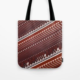 Pagoda roof pattern Tote Bag