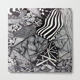 Zentangle #1 Metal Print