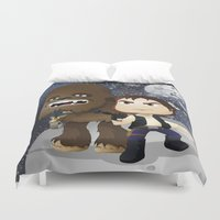 han solo Duvet Covers featuring Han Solo & Chewbacca by 7pk2 online