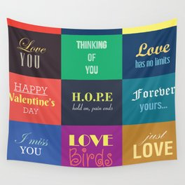 love messages Wall Tapestry