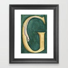 G is for Gecko Framed Art Print