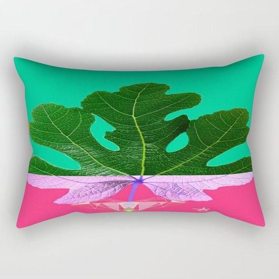 Fig Leaf Diamond Christmas - Other Half and Half Rectangular Pillow