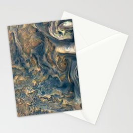 Surface of Jupiter Atmosphere Telescopic Photograph Stationery Cards
