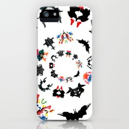 Rorschach test subjects' perceptions of inkblots psychology   thinking Exner score iPhone Case