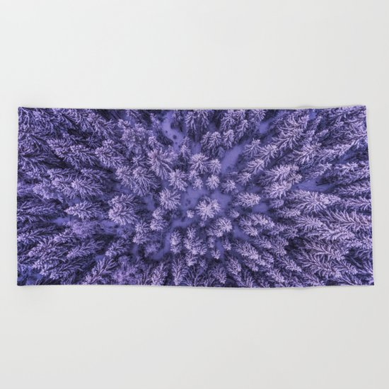 Aerial Pine Beach Towel