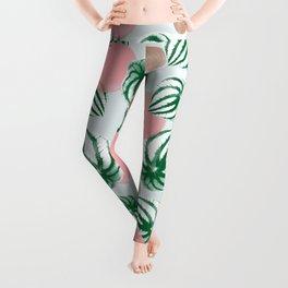 Watermelon Peperomia Pattern Leggings