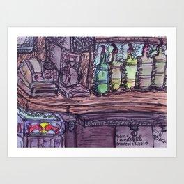 Random Bar Scene Art Print