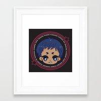 kuroko Framed Art Prints featuring chibi aomine daiki by Ichigo Kuriimu