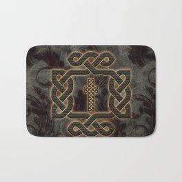 Decorative celtic knot, vintage design Bath Mat