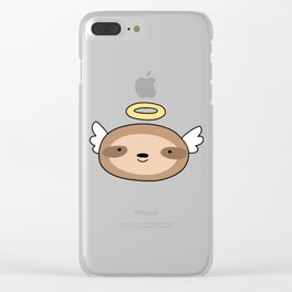 Angel Sloth Face Clear iPhone Case