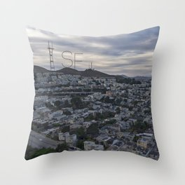 San Francisco - Sutro Tower Chill Throw Pillow