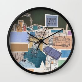 Night on the Town Wall Clock