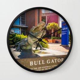 Gainesville Florida Football Stadium Statue Wall Clock