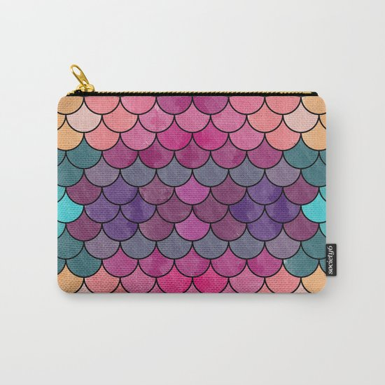 Watercolor Lovely Pattern VVXVIII Carry-All Pouch
