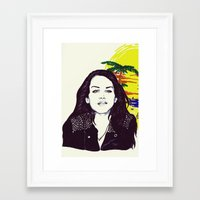 ultraviolence Framed Art Prints featuring THE ULTRAVIOLENCE GIRL by Robert Red ART