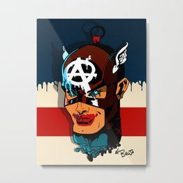 Captain Anarchy Metal Print