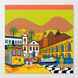 Rio de Janeiro in the past Canvas Print