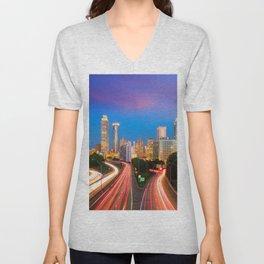 Atlanta 02 - USA Unisex V-Neck