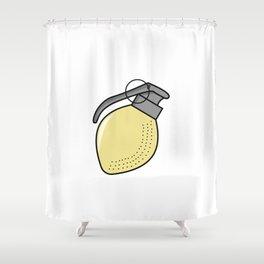 Lemon Grenade Shower Curtain