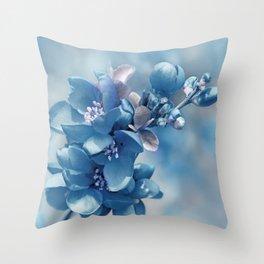 Blue 81 Throw Pillow