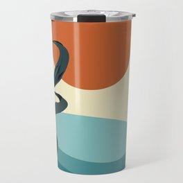 Abstract sun , leaf and sea art  Travel Mug