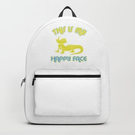 Cute Bearded Dragon This Is My Happy Face Bearded Dragon Owner Gift Backpack