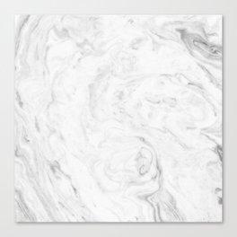 Light grey marble Canvas Print