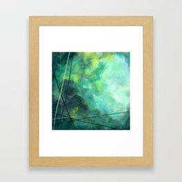 Crossed Green - Abstract Art Framed Art Print