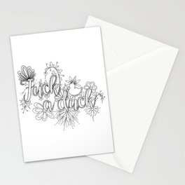 Fuck A Duck Adult Coloring Stationery Cards