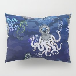 Rolex DeepSea UnderWater Illustration Pillow Sham