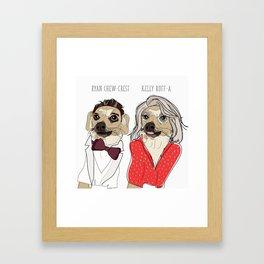 Celebrity Dogs-Ryan Chew-Crest & Kelly Ruff-A Framed Art Print