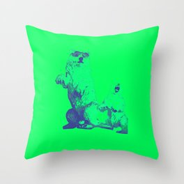 Ours Republique green Throw Pillow