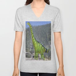 Brachiosaurus Reconstruction Unisex V-Neck