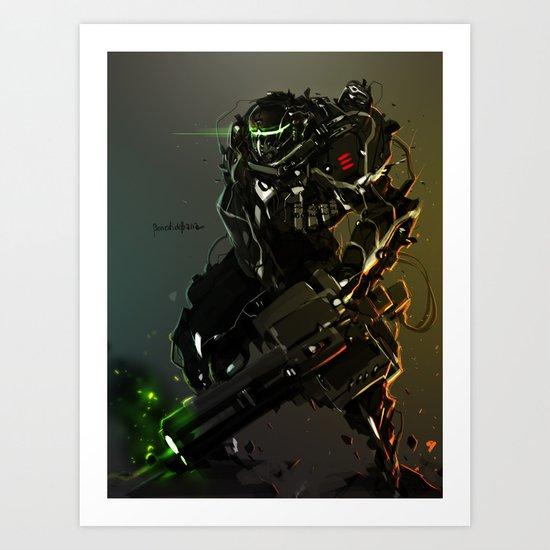Heavy Gunner Raptor Art Print