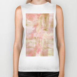 Rustic Gold and Pink Abstract Biker Tank