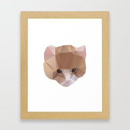 GEOMETRIC CAT Framed Art Print