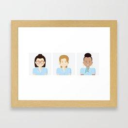 Ladies of Broadway I Framed Art Print