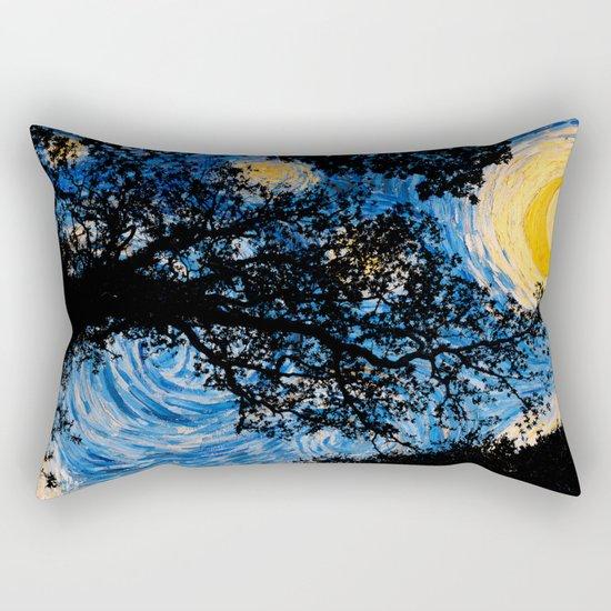 Starry Forest Night Rectangular Pillow