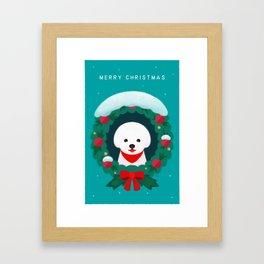Christmas Bichon Framed Art Print