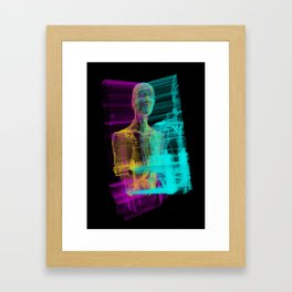 Fragments of a human being Framed Art Print