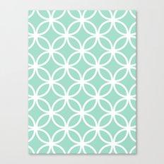 Mint Geometric Circles Canvas Print