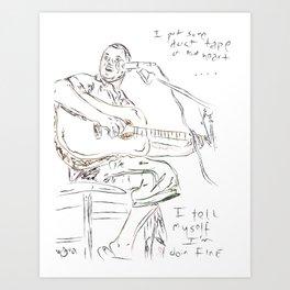Foscoe Jones - Duct Tape on My Heart Art Print