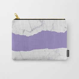 Elegant violet gray white modern marble pattern Carry-All Pouch