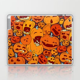 Halloween pumpkin pattern Laptop & iPad Skin
